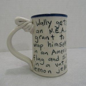 Tom Edwards Pottery Coffee Mug Cup Wallyware Funny